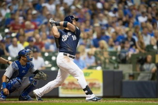 Kirk Nieuwenhuis has a cute story about how he started swinging as a lefty.